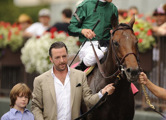Gio Ponti with Ramon Dominguez up wins the 2010 Man O' War Stakes at Belmont Park, NY 7.10.2010