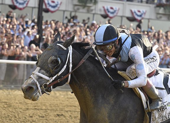 Tapwrit Outlasts Irish War Cry in Belmont