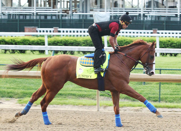 Bob Baffert saddles Justify, his fifth Kentucky Derby victor