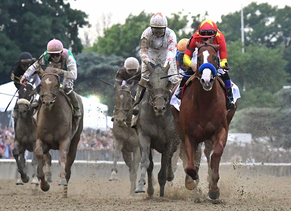 Justify Wires Belmont to Become 13th Triple Crown Winner