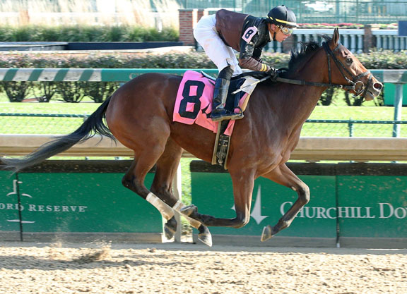 Tapit Filly Explodes In Two-Turn Bow
