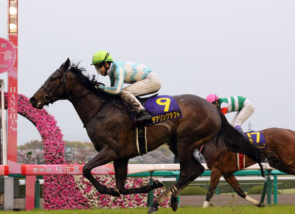 Daring Tact Remains Unbeated in Japanese Oaks