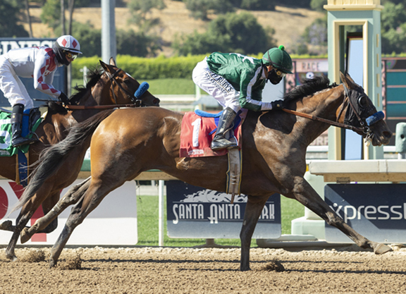 Quality Road Filly Sprints To Win in Angels Flight