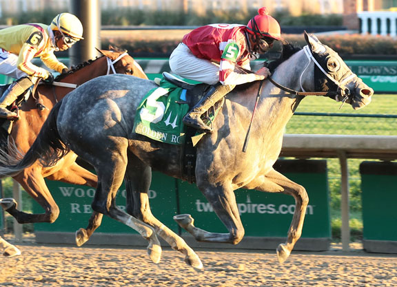 Travel Column Becomes First Graded Winner for Frosted in Golden Rod