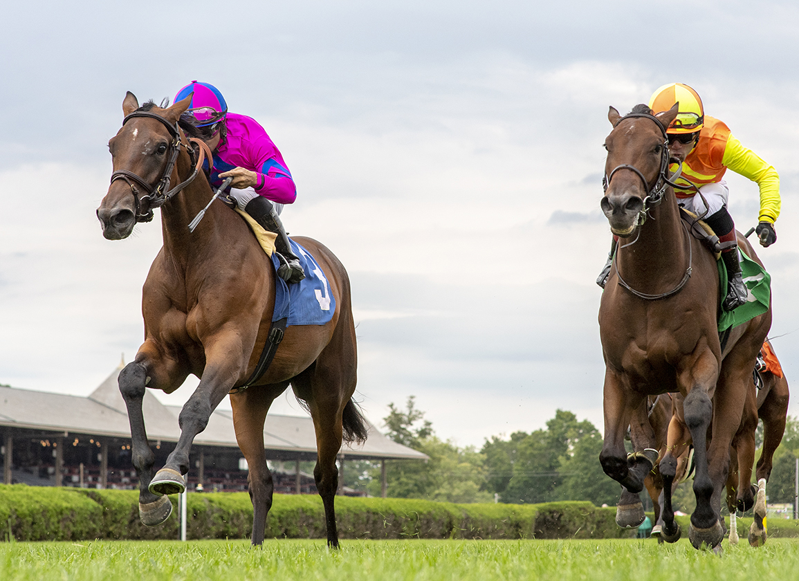 Empire Maker Filly Flies Home First Time Out