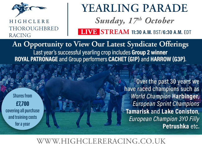 Highclere Racing interstitial (version A) – 10/15/21
