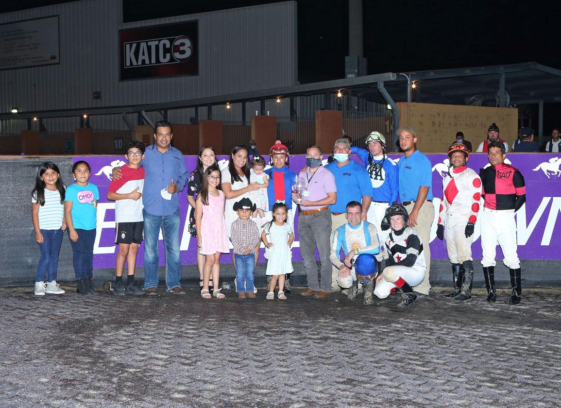 Diego Saenz Wins Evangeline Downs Jockey Title